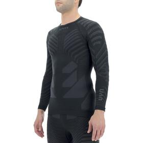 UYN Resilyon LS Round Neck Shirt Men, nero/grigio